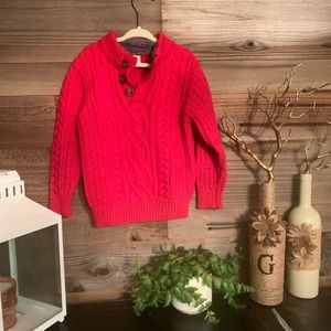 Red boys Gap Christmas holiday size 4 sweater